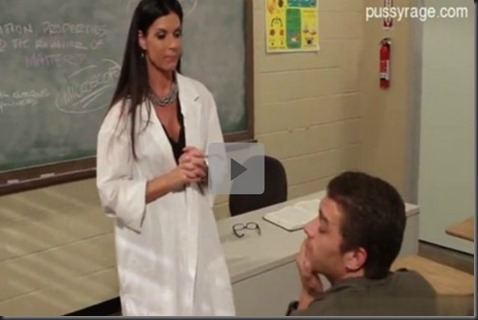 Busty teacher fucks the hell out of her student